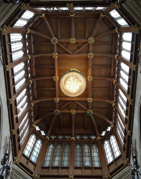 One of the many incredible ceilings
